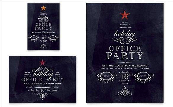 office holiday party flyer 99