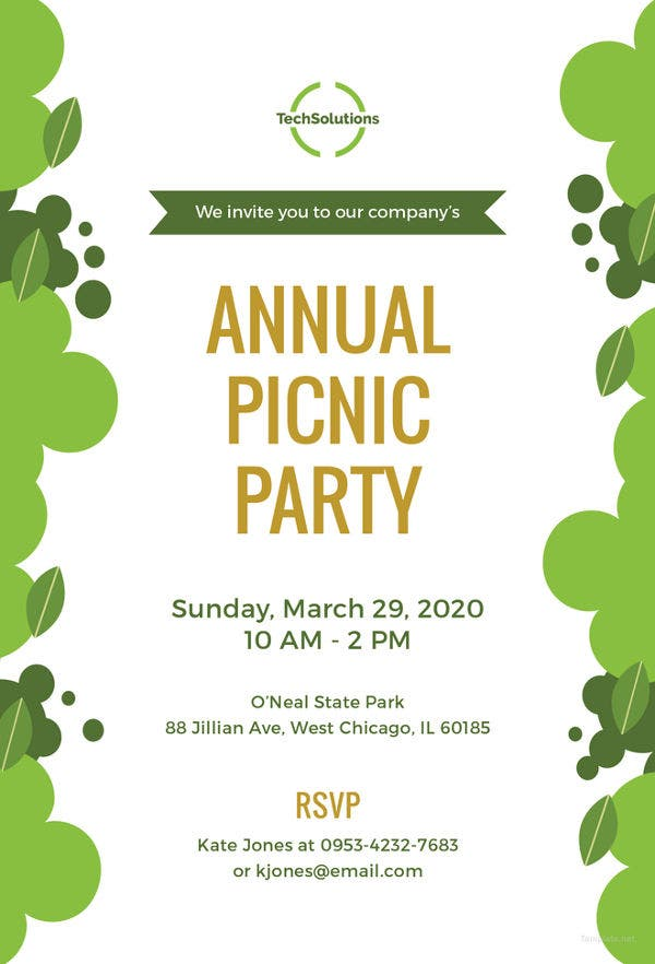 office-picnic-invitation-template