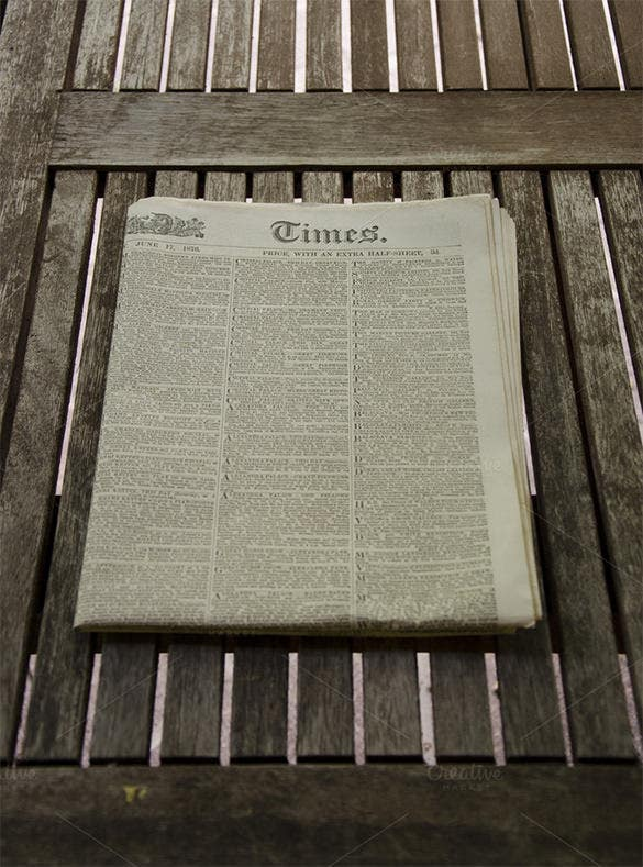 old vintage newspaper template