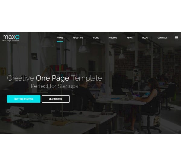 one page parallax joomla template