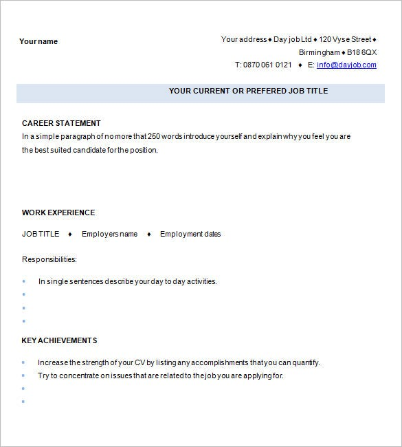 Chronological Resume Traditional Design Resume Template For Mba