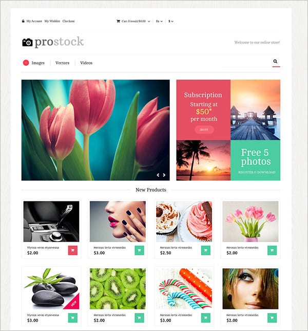 online demonstration of artworks magento theme
