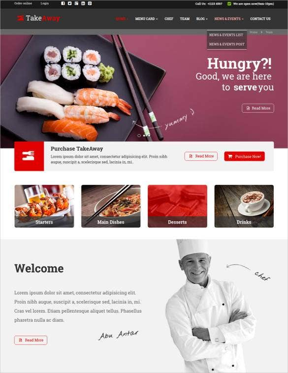 online food ordering restaurant website template1