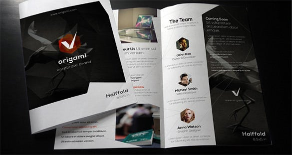 33 bi fold brochure templates free word pdf psd eps for Company brochure template free