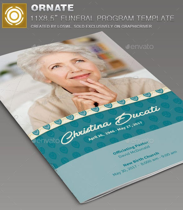 ornate funeral stationary template 8