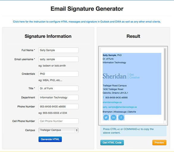 outlook email signature generator