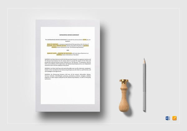 outsourcing services agreement template
