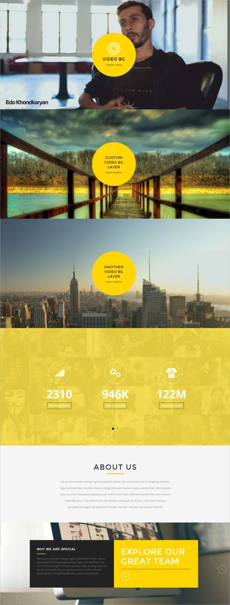 presence responsive one page parallax template 788x2070