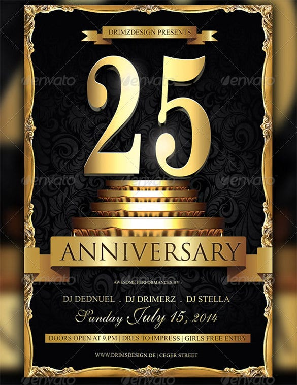 18 Best Anniversary Flyer Templates Psd Ai Indesign
