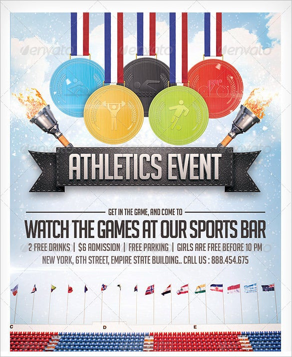 Sports Day Poster Template  CityEsporaCo