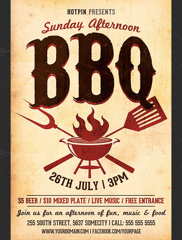 25 Bbq Flyer Templates Psd Ai Word Eps Vector Format Free