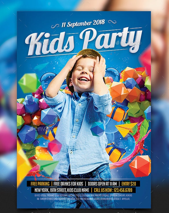 psd birthday party flyer template 6