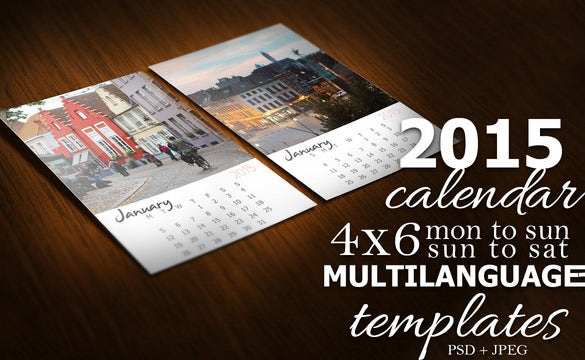 psd calendar template kit
