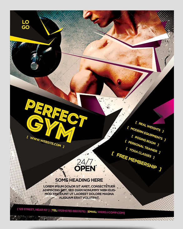 Fitness Flyer Template   Free Psd Format Download  Free