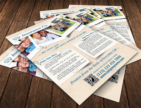 psd flyer template for insurance company 6