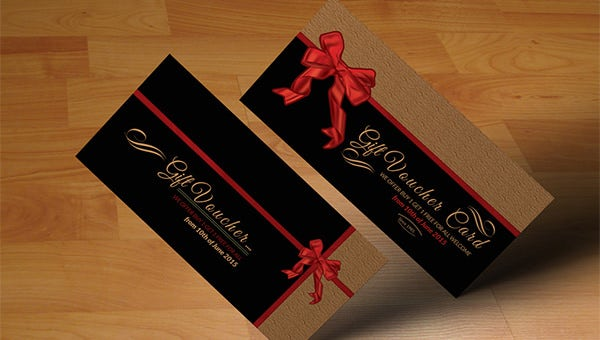 psd gift card templates