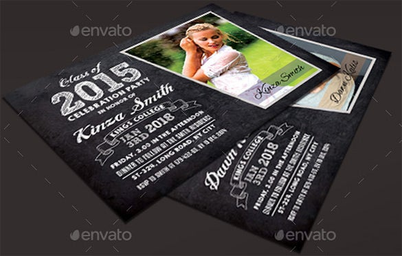 psd graduation announcement template 6
