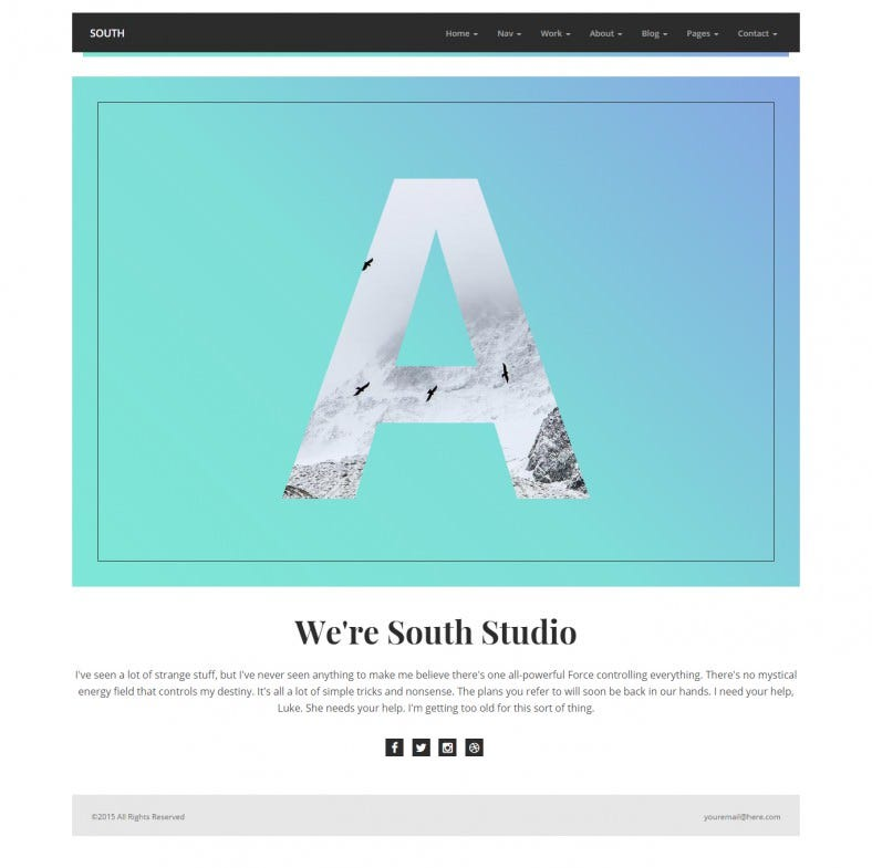 psd included creative html5 template 788x785