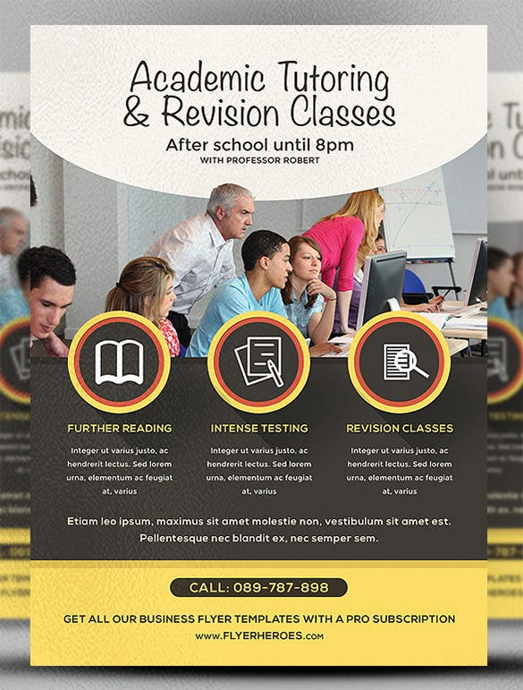 psd photoshop academic studies flyer template