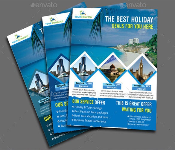 Travel Flyer Template 43 Free PSD AI Vector EPS Format – Vacation Brochure Template