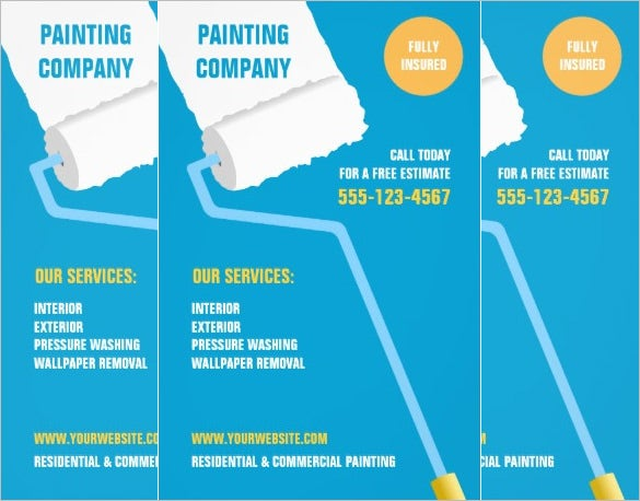 painting company flyer template