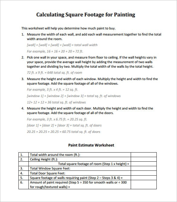 Painters Contract Template. Free Download For Painting Contractors ...