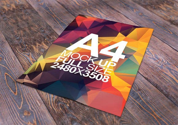 paper a4 full size free mock up download