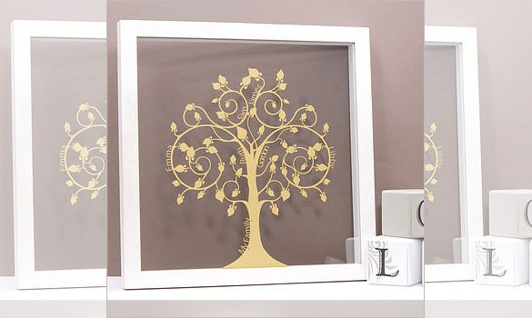 papercut family tree wall art £55