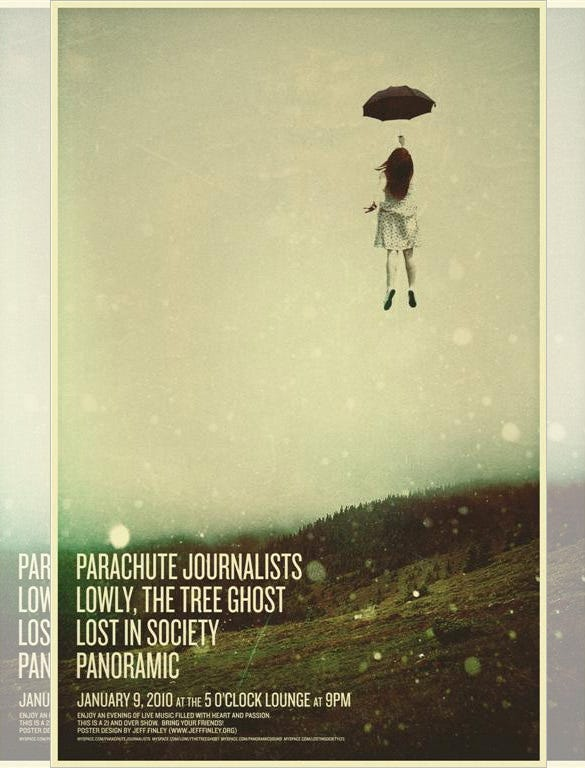 parachute journalists concert poster free