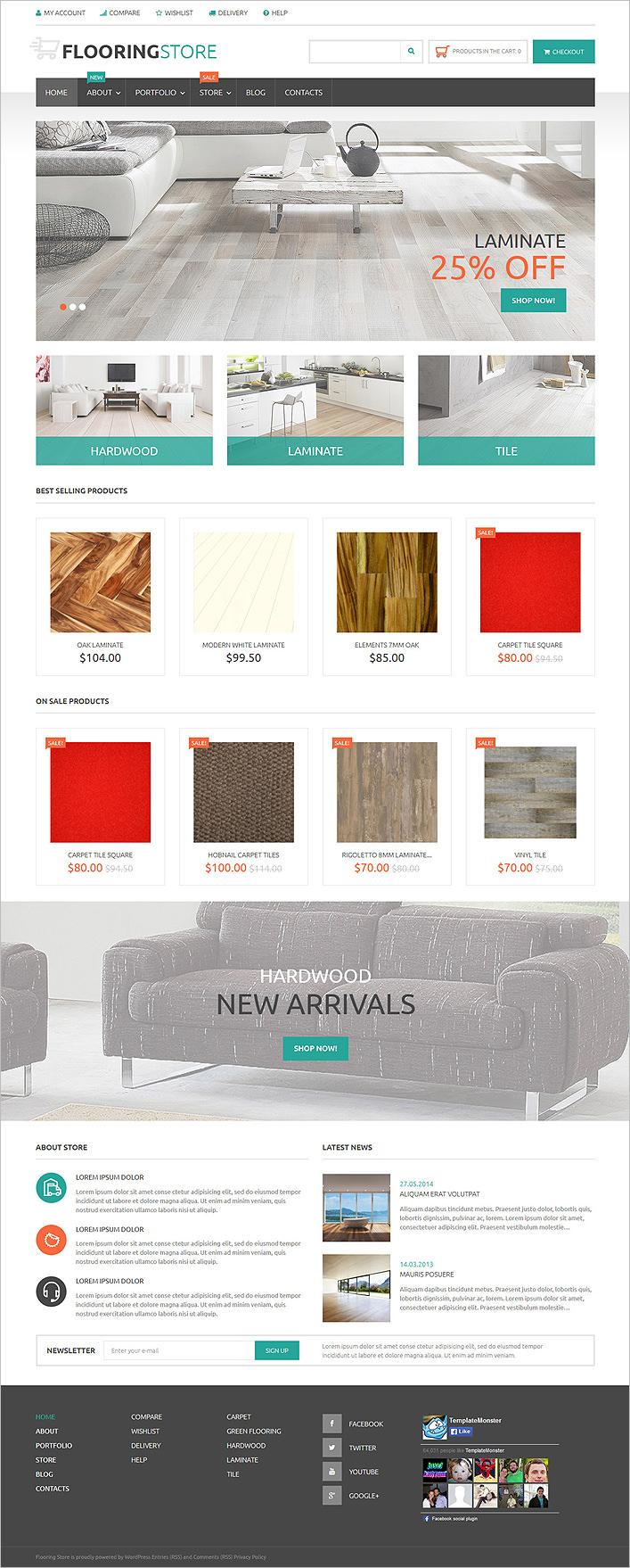parquet online store woocommerce theme1