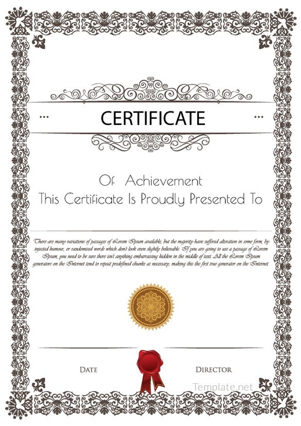 free download certificate of participation template - Paso.evolist.co