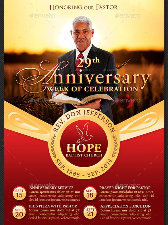 picture relating to Free Printable Flyers for Church identified as 18+ Most straightforward Anniversary Flyer Templates - PSD, AI, InDesign