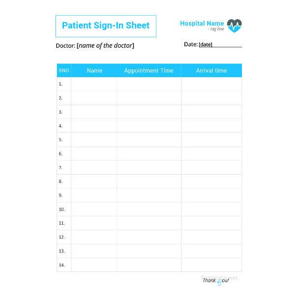 patient sign in sheet template1