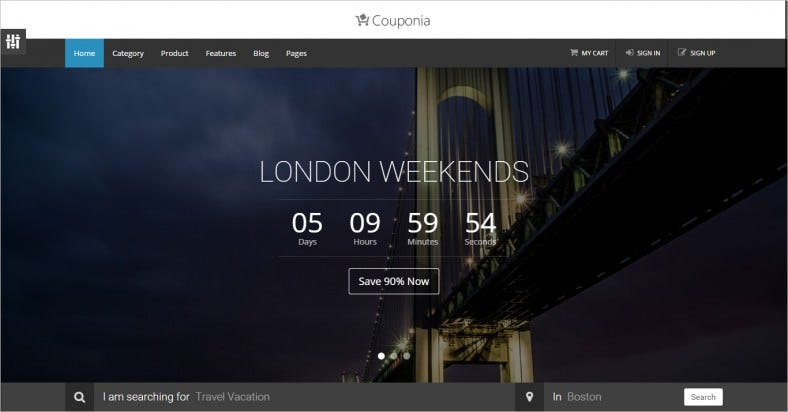 Perfect Website Template for Your Coupon Business