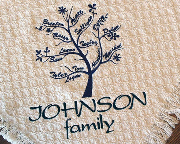 personalized family tree blanket for mothers day 53