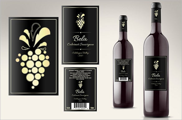 35 wine label templates free premium templates. Black Bedroom Furniture Sets. Home Design Ideas