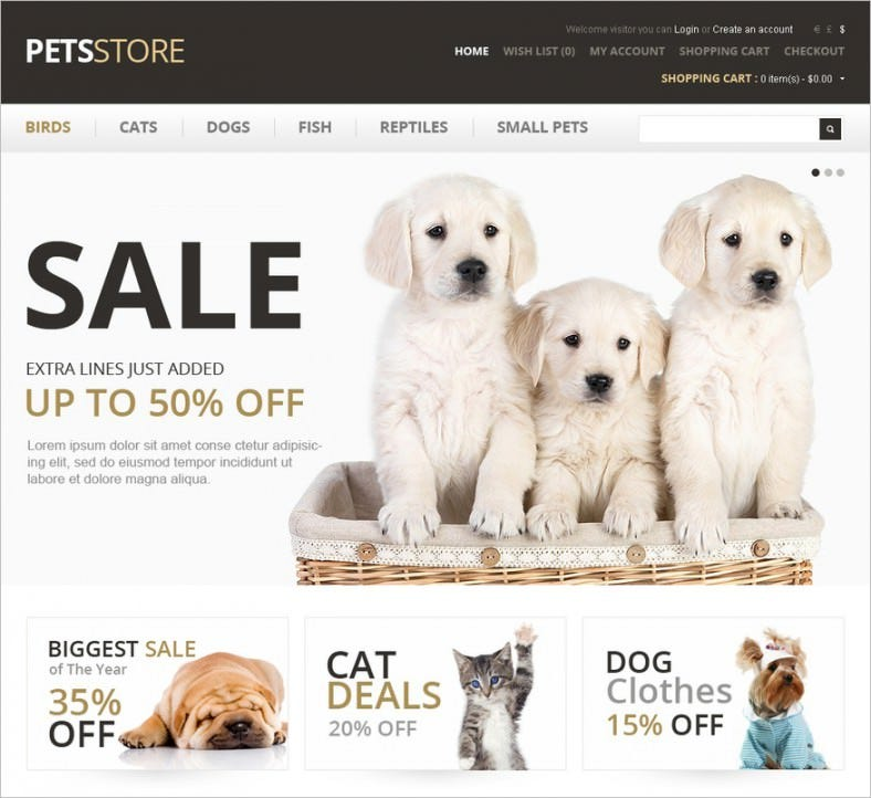 pet care opencart template 788x722