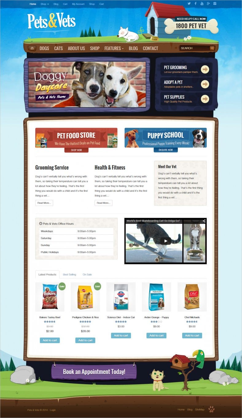 pets vets wordpress woocommerce 788x1359