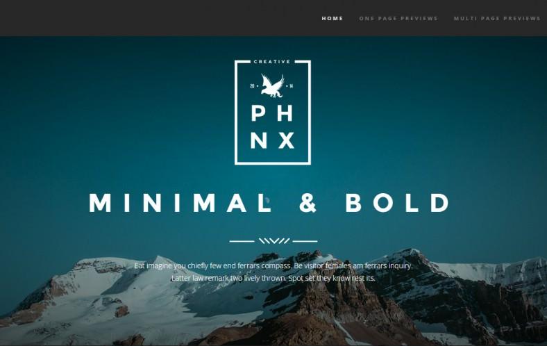 phoenix minimal portfolio joomla template 788x498