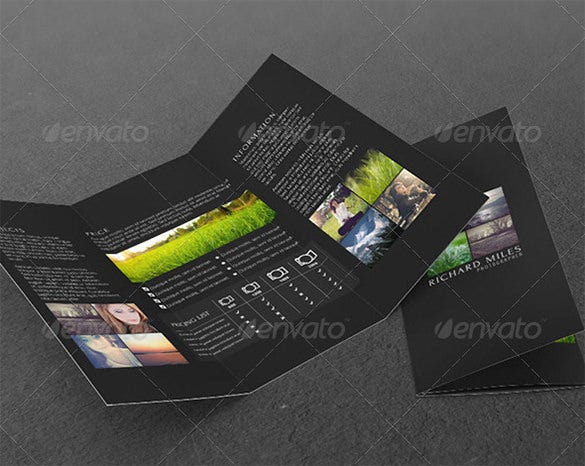 photo agency tri fold corporate brochure
