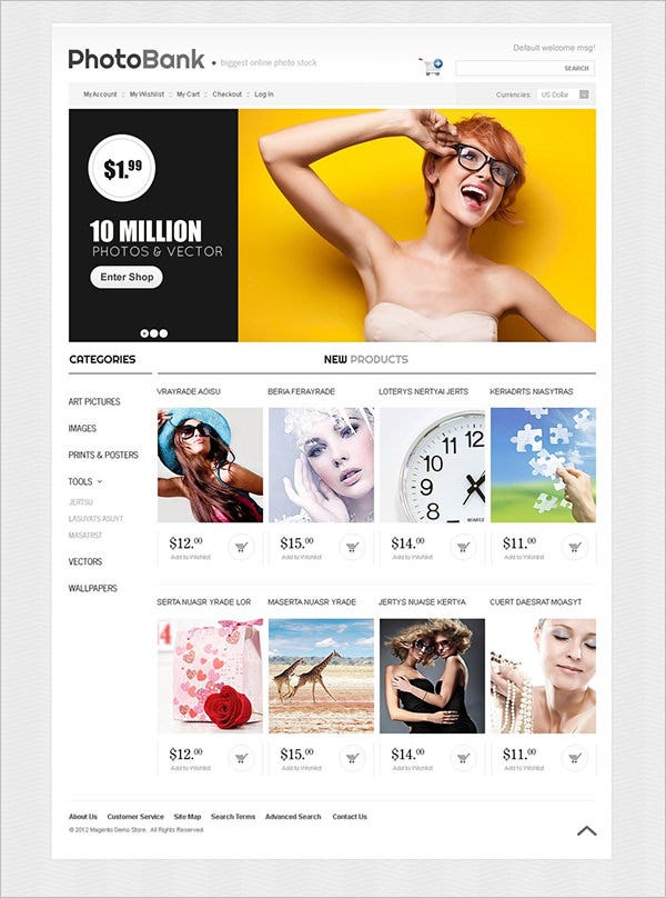 photo bank magento theme