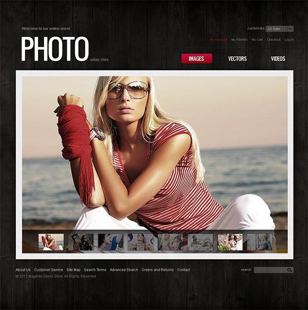 photo store magento theme