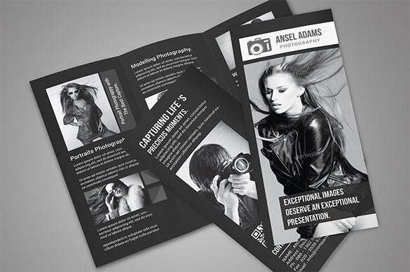 photography photoshop tri fold brochure