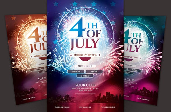 photoshop 4th july memorial day flyer 7