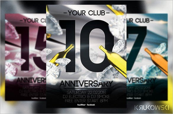 photoshop anniversary flyer template 6