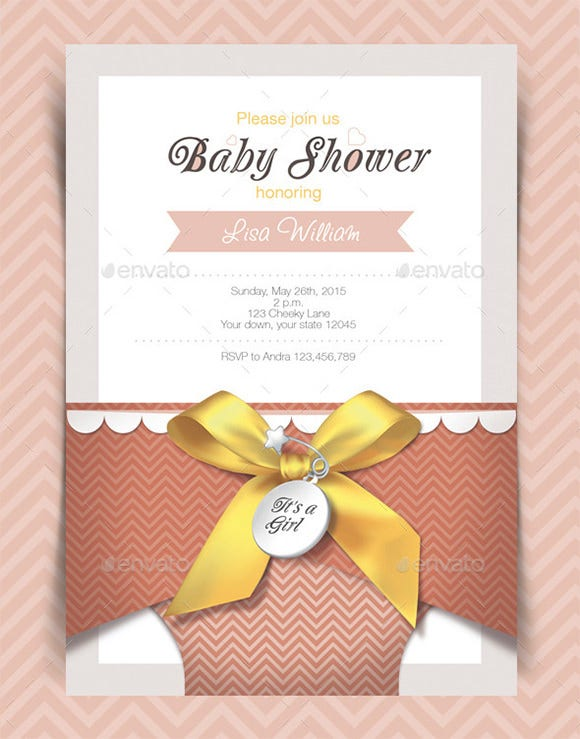 photoshop baby shower invitation card