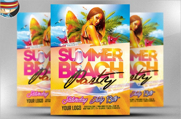 photoshop beach flyer template 9