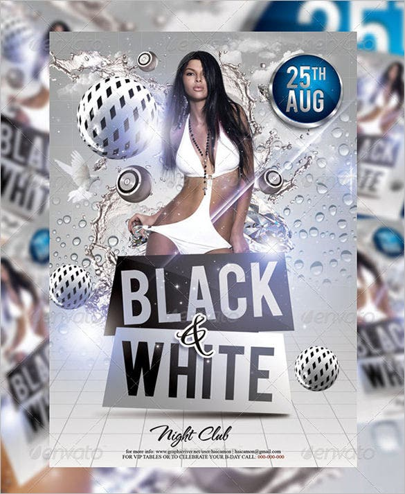 Black And White Flyer Templates PSD Designs Free Premium - Black and white flyer template free