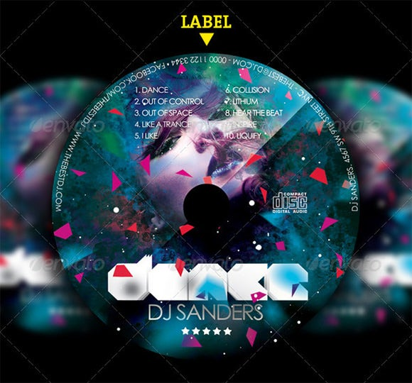 photoshop dance cd label
