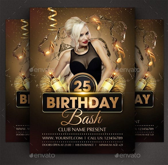 free psd birthday bash flyer beste globalaffairs co